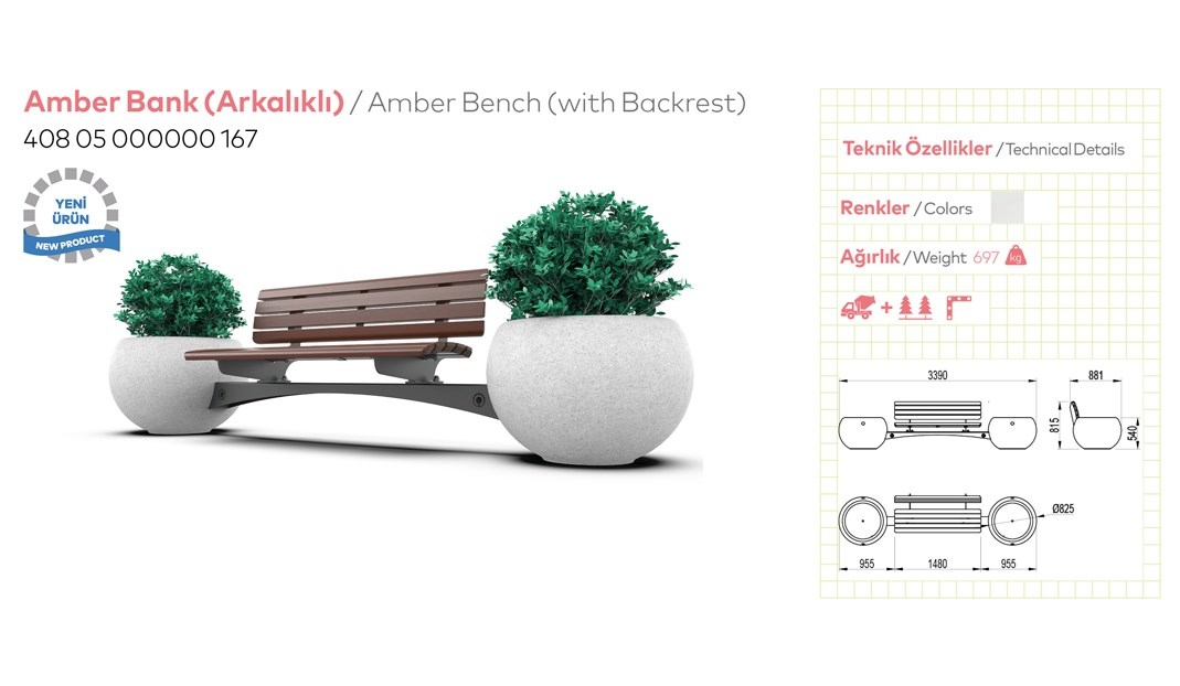 Benches with Backrest - 14