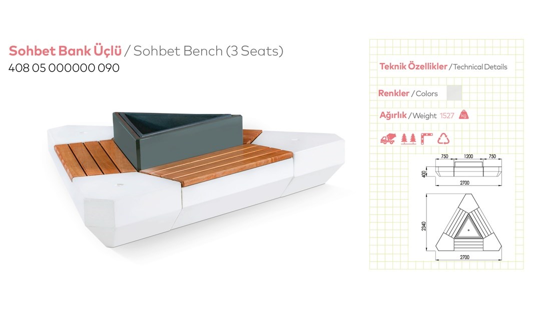 Benches with Backrest - 19