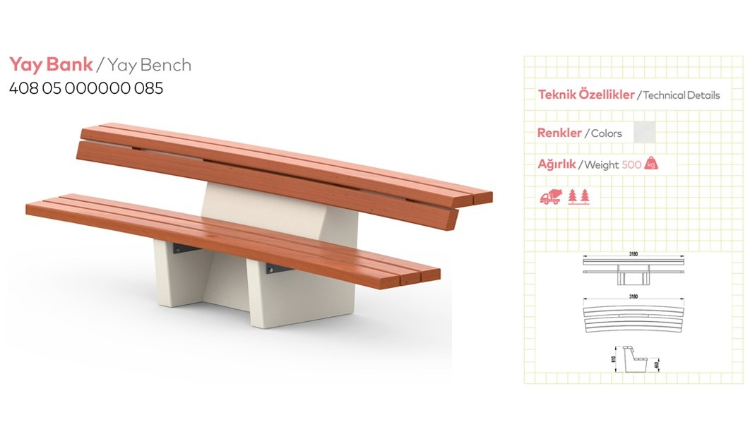 Benches with Backrest - 20