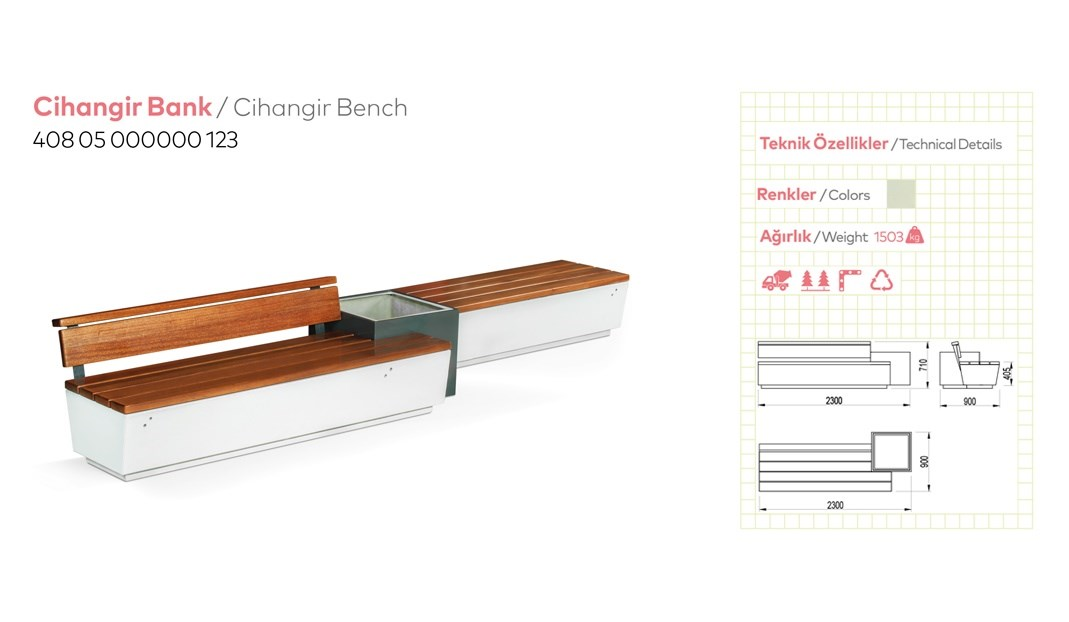 Benches with Backrest - 22