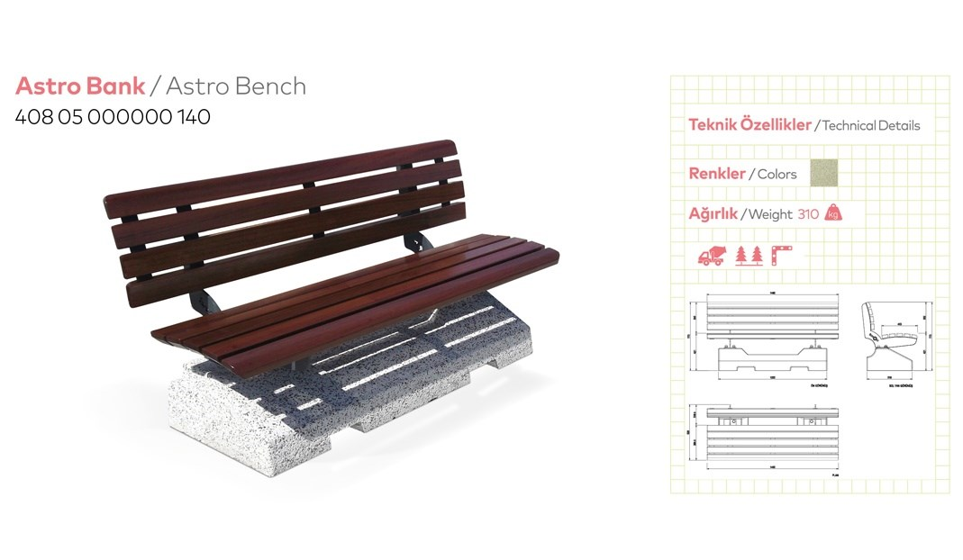Benches with Backrest - 28