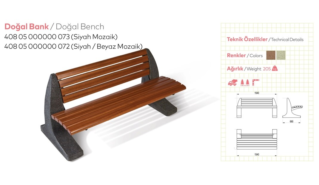 Benches with Backrest - 34