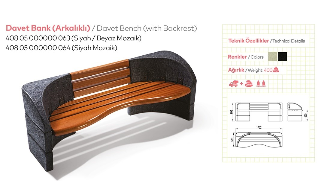 Benches with Backrest - 35
