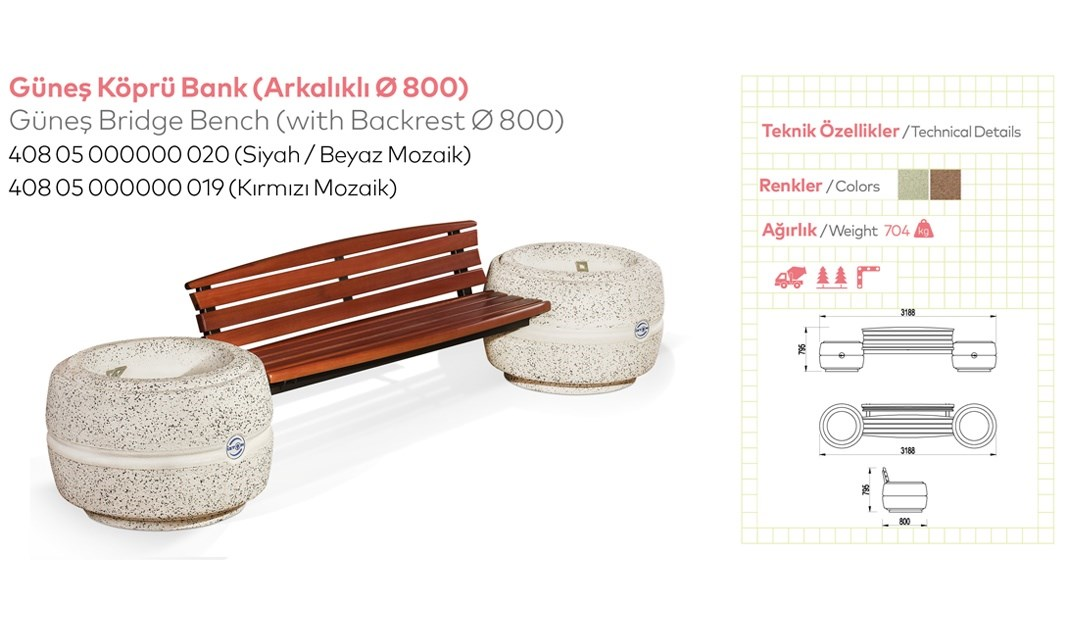 Benches with Backrest - 36
