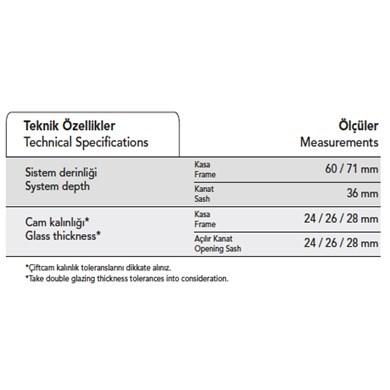 Alüminyum Sürme Sistemleri | S 36 T - 1