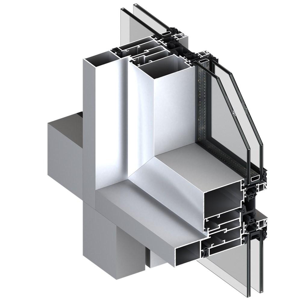 Alüminyum Giydirme Cephe Sistemleri   MN 86 - 0