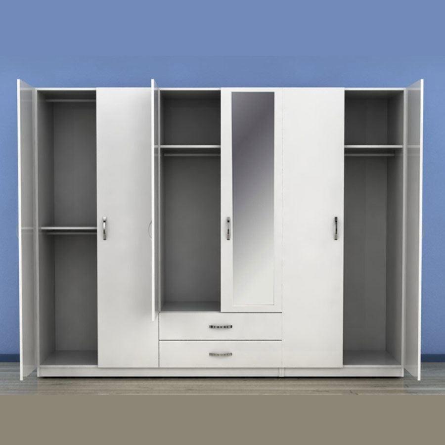 Covered Wardrobe | 6 Doors - 0