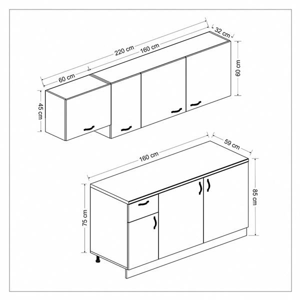 Fitted Kitchen Cabinet - 1