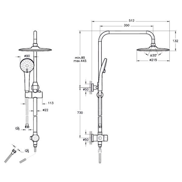 Shower Column - 1