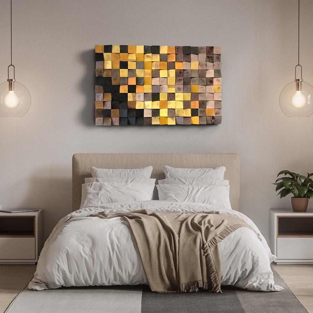 Art | Pixel Flow - Brown to Yellow