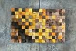 Art   Pixel Flow - Brown to Yellow - 2