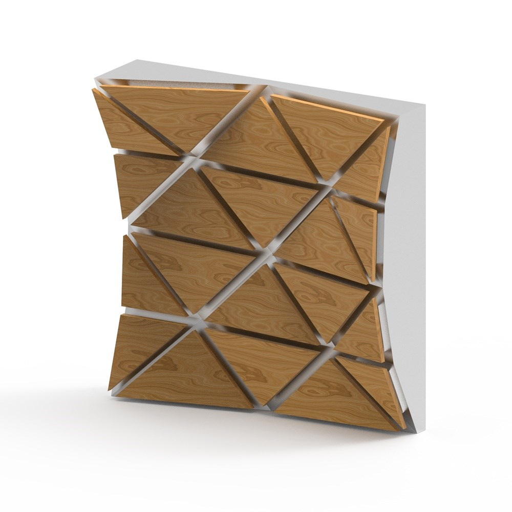 Triangle Paneling | Wooden