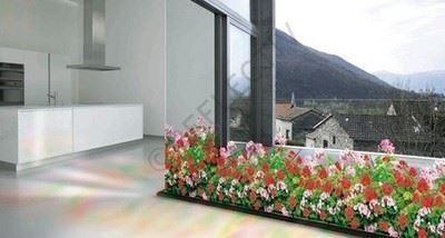 Çiçek Motifli Dekoratif Cam Filmi