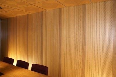 Delikli ve Derzli Akustik Bölme Duvar