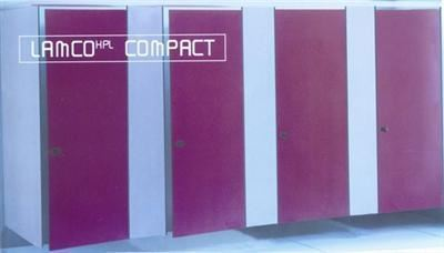 Compact Laminated Cabines, Stainless Steel and Thermoplastic Cubicle Accessories - 1