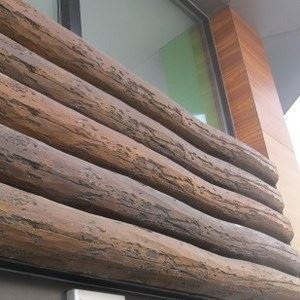 Tumbled Wood Look Spanish Decorative Ceiling Beams (oval) - 0