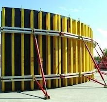 Perde-Kolon Kalıbı/PLEXO Ayarlı Dairesel Plywood Perde Kalıbı Sistemi