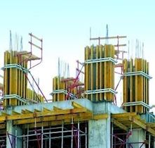 Shear Wall-Column Formwork | H20P Plywood Column Formwork System