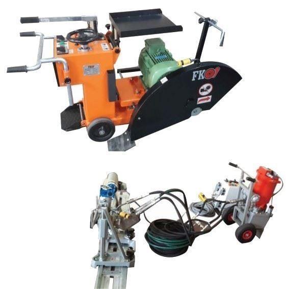 Hidrolik Raylı Kesme Makinesi Ekipmanları ve Derz Kesme Makinesi