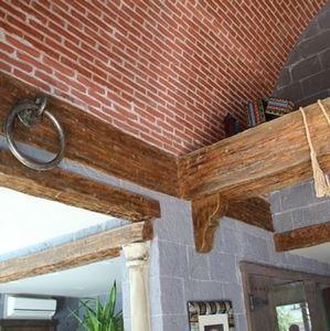 Tumbled Wood Look Spanish Decorative Ceiling Beams (angled) - 1
