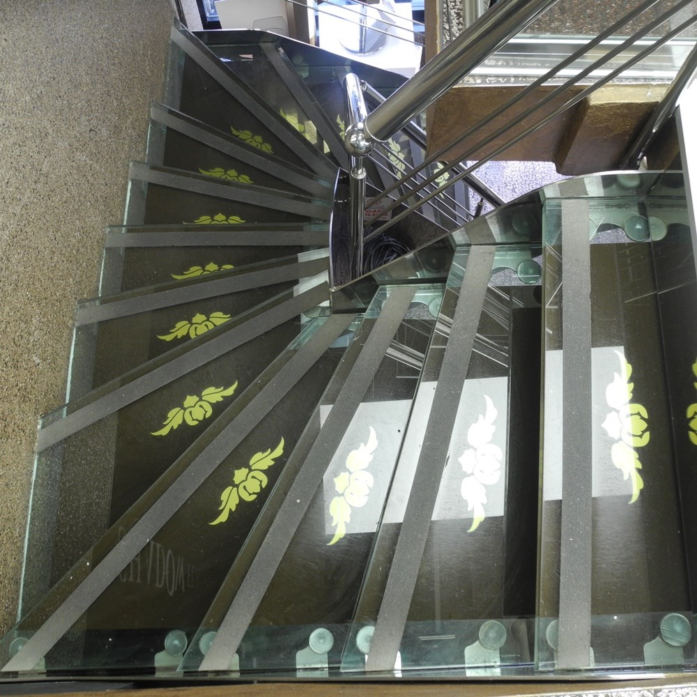 Stainless - Glass Step Ladder - 0
