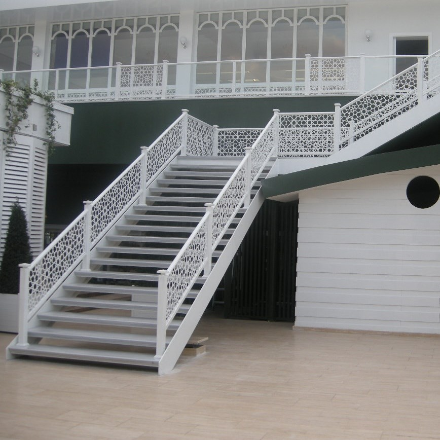 Metal - Marble Step Stairs