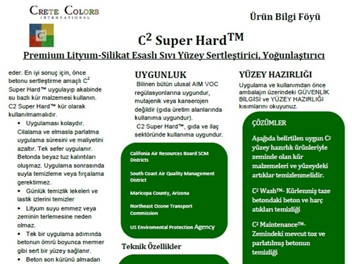 C² Lithium Silicate Liquid Surface Hardener Product Brochure