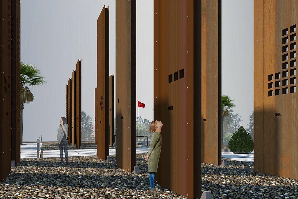 Gazi Baf Şehitler Anıtı, Sergi ve Tören Alanı